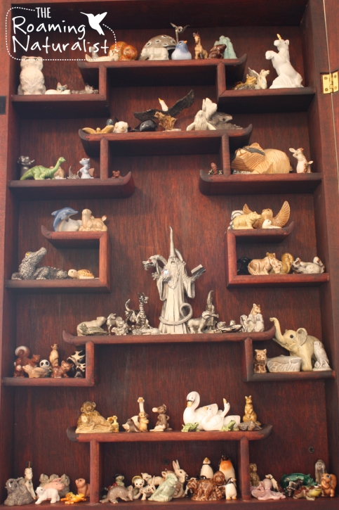 My cabinet of animal figurines. And.. one gigantic wizard. Don't judge.