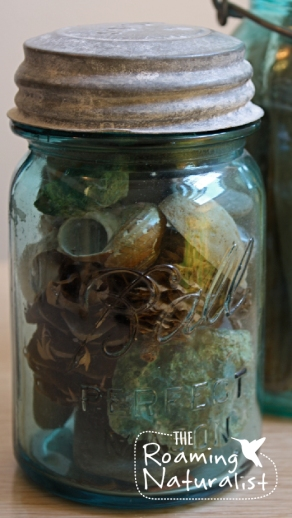 curios blue jar