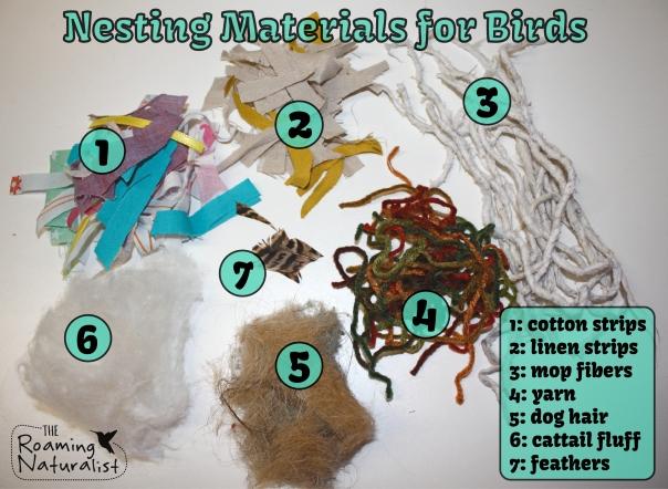 nesting materials list